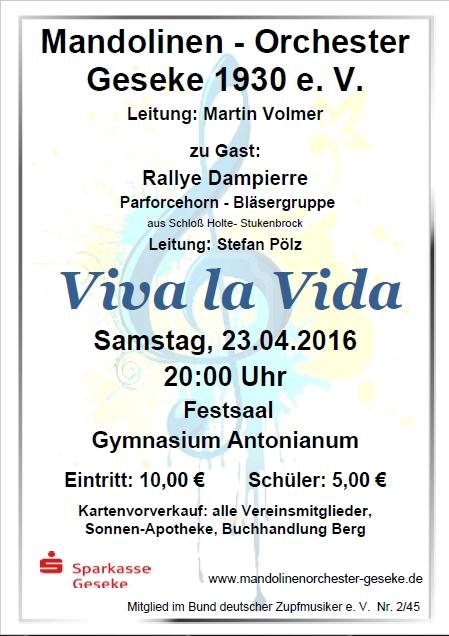 Konzertplakat 2016